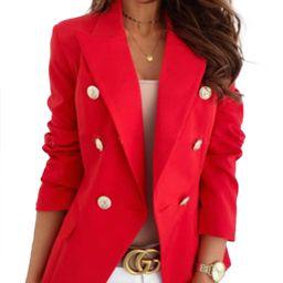 UKAP Womens Slim Fit Casual Work Office Business Blazers Double Breasted Button Jacket - Walmart....   Walmart (US)