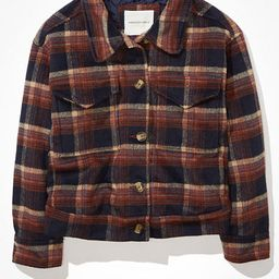 AE Plaid Cropped Shacket | American Eagle Outfitters (US & CA)