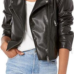 The Drop Women's Heather Faux Leather Moto Jacket   Amazon (US)