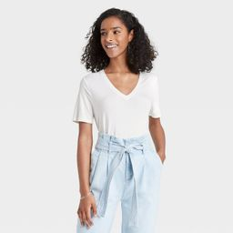 Women's Short Sleeve V-Neck T-Shirt - A New Day™   Target