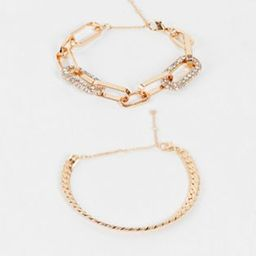 ALDO Mireathiel statement stacking bracelets in gold | ASOS (Global)