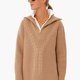 Camel Quarter Zip Estella Sweater   Tuckernuck (US)