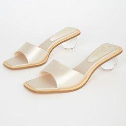 Skye Ivory Satin High Heel Sandals   Lulus (US)