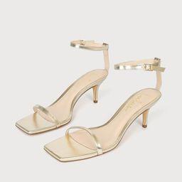 Saraih Gold Metallic Ankle Strap High Heel Sandals   Lulus (US)
