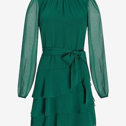 Tiered Ruffle Fit And Flare Dress | Express