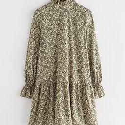 Voluminous Sleeve Cupro Mini Dress   & Other Stories