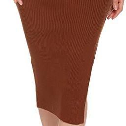 HOTLOOX Women's Plus Size Basic Plain Stretchy Ribbed Knit Split High Waist Full Length Sweater S...   Amazon (US)