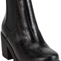 Soda Top Shoes Jaber Ankle Boot W Lug Sole Elastic Gore and Chunky Heel   Amazon (US)
