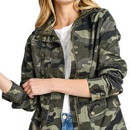Women's Lightweight Long Sleeve Army Camouflage Jacket   Amazon (US)