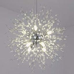 Linsly Crystal Chandelier, 8-Light Modern Chandelier, Sputnik Chandeliers, Chandelier Light Fixtu... | Amazon (US)