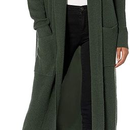 Cable Stitch Women's Open Placket Long Cardigan | Amazon (US)