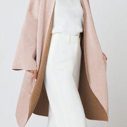 Reversible Coat, Fall Fashion, Fall Jacket, Fall Jackets, Black Cardigan Coat, Camel Coatigan | Cuyana