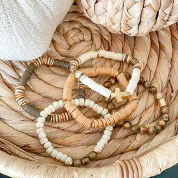 Holly's Fall Bracelet Stack, Heishi Bead Bracelet For Women, Custom Stackable Bracelets, Bracelet... | Etsy (US)