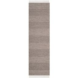 "SAFAVIEH Montauk Karlene Geometric Striped Cotton Runner Rug, Ivory/Anthracite, 2'3"" x 8' | Walmart (US)"