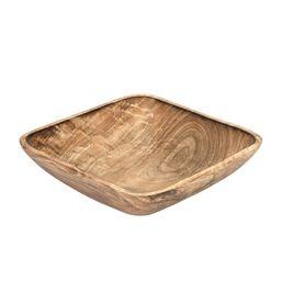 Functional Square Shaped Mango Tree Wood Serving Dish or Fruit Bowl | Walmart (US)