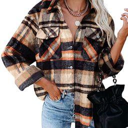Dokotoo Womens Corduroy Button Down Shirts Boyfriend Long Sleeve Oversized Blouses Tops   Amazon (US)