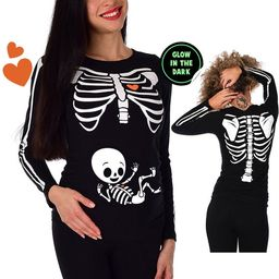 Baby Boy / Neutral Halloween Maternity Shirt Pregnant Skeleton Maternity Tshirt Tee Shirt Cute Xr... | Etsy (US)