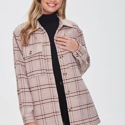Plaid Button-Front Shacket | Forever 21 (US)