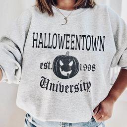 Halloweentown University Crewneck Sweatshirt, Funny Halloween Sweatshirt, HalloweenTown Tee,  Fal... | Etsy (US)