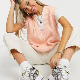 COLLUSION knit sweater vest in peach   ASOS   ASOS (Global)
