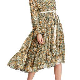 Feeling Groovy Long Sleeve Midi Dress | Nordstrom