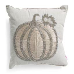18x18 Velvet Pumpkin Pillow | TJ Maxx