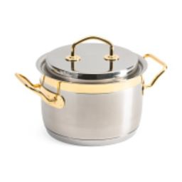 Made In Italy 3.8qt Stainless Steel Gold Plated Stockpot | TJ Maxx
