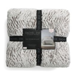 Zebra Sculpted Faux Fur Comforter Set | TJ Maxx