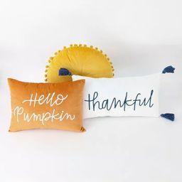 3ct Throw Pillows Hello Pumpkin/Thankful - Bullseye's Playground™   Target