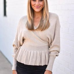 Pep Talk Sweater - Natural   The Impeccable Pig