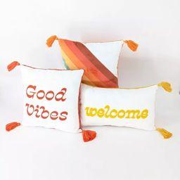 3ct Throw Pillows Good Vibes/Welcome - Bullseye's Playground™   Target