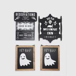 6ct Halloween Wood Signs Black/White - Bullseye's Playground™   Target