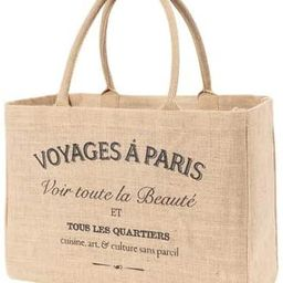 KAF Home Jute Market Tote Handles Reusable Grocery Bag, Voyages | Amazon (US)