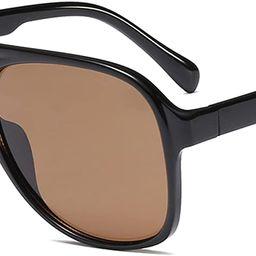 YDAOWKN Classic Vintage Aviator Sunglasses for Women Men Large Frame Retro 70s Sunglasses | Amazon (US)