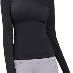 BALEAF Women's Long Sleeve Running Shirt Slim Fit Yoga Workout Athletic Gym Top with Thumb Holes   Amazon (US)