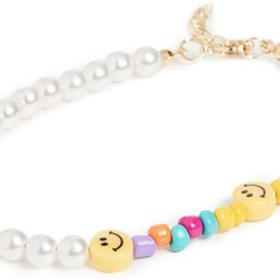 Adina's Jewels Women's Smiley Face X Pearl Anklet   Amazon (US)