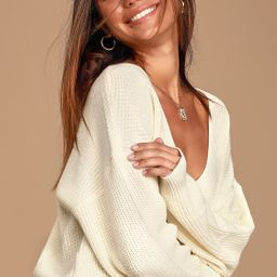 Feel it Still Ivory Knit Sweater | Lulus (US)