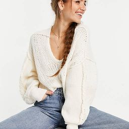 Free People sea bright pullover oversized cropped sweater in chunky knit | ASOS | ASOS (Global)