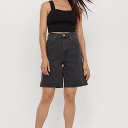 Wide Bermuda High Waist Shorts | H&M (US)
