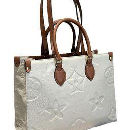 'Jade' Flower Emboss Tote Bag | Goodnight Macaroon