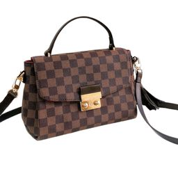 'Victoria' Canvas Checked Top Handle Bag (3 Colors) | Goodnight Macaroon