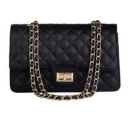 'Sofia' Quilted Faux Leather Chain Strap Bag (3 Colors) | Goodnight Macaroon