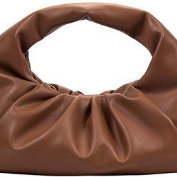 Women Dumpling Bag Leather Shouder Bag Cloud Pouch Bag Large Satchel Handbag | Amazon (US)