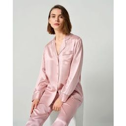 Rhinestone Trimmed Silk Women Pajamas Set | LilySilk
