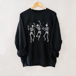 Dancing Skeleton Pullover Black, Dancing Skeleton Sweatshirt, Halloween Sweatshirt, Happy Hallowe... | Etsy (US)