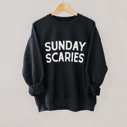 Sunday Scaries Pullover, Sunday Scaries Sweatshirt, Halloween Sweatshirt, Happy Halloween Shirt, ... | Etsy (US)