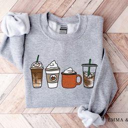 Fall Coffee Sweatshirt, Unisex Fall Pullover, Pumpkin Spice Sweatshirt, Cute Fall Sweater, Womens...   Etsy (US)
