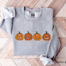 Fall Crewneck Sweatshirt, Fall Shirts for Women, Halloween Sweatshirt, Pumpkin Sweatshirt, Jack-o...   Etsy (US)