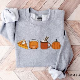 Fall Sweatshirt for Women, Pumpkin Spice Sweatshirt, Pumpkin Sweatshirt, Fall Sweater, Fall Crewn...   Etsy (US)