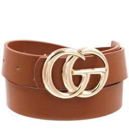 GG Belt in Brown/Gold | Indigo Closet